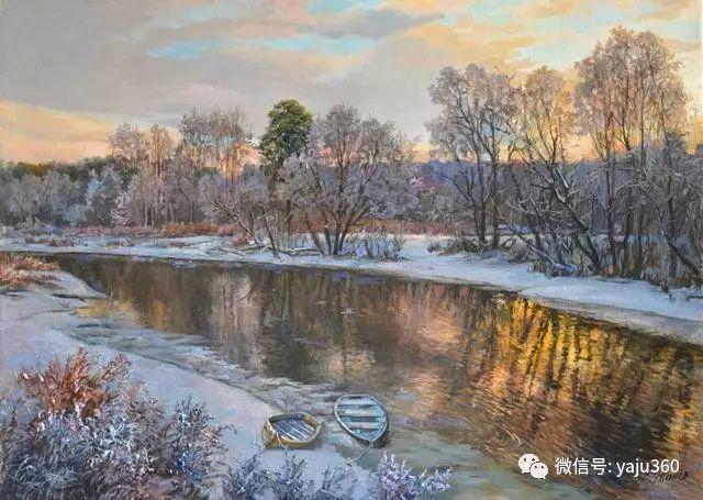 油画世界:俄罗斯巴诺夫风景油画插图29