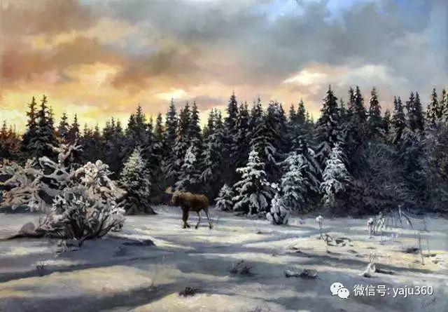 油画世界:俄罗斯巴诺夫风景油画插图35