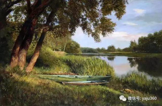 油画世界:俄罗斯巴诺夫风景油画插图37