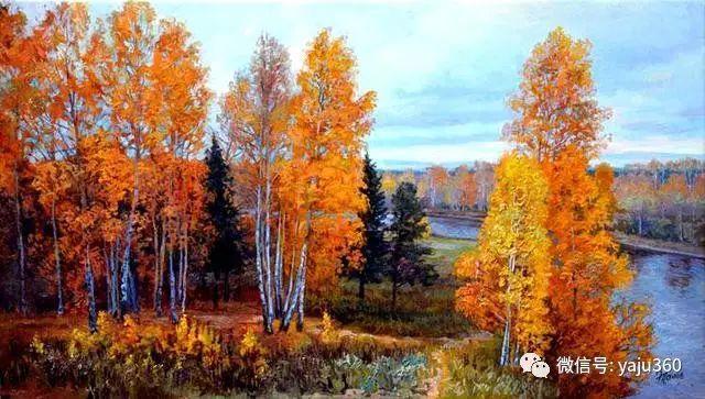 油画世界:俄罗斯巴诺夫风景油画插图43
