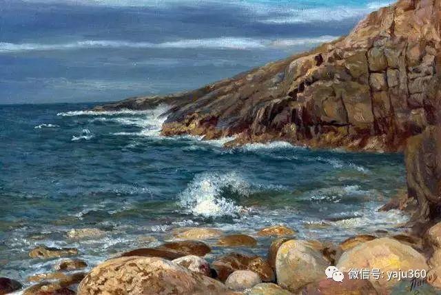 油画世界:俄罗斯巴诺夫风景油画插图47