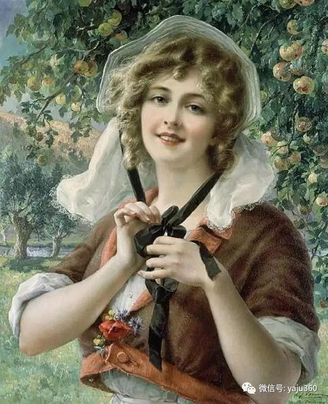 法国学院派画家Emile Vernon女性人物油画插图3