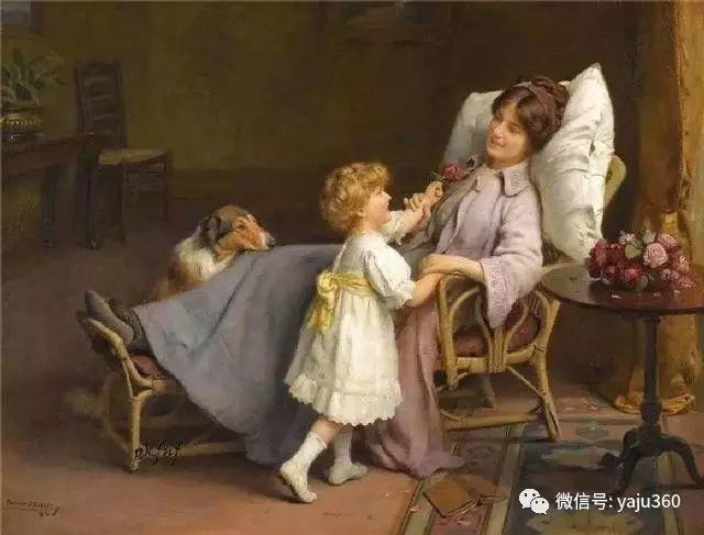 法国学院派画家Emile Vernon女性人物油画插图5