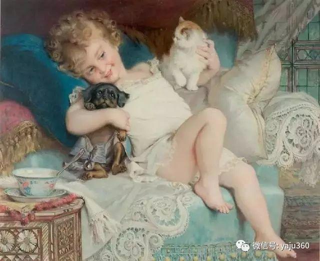 法国学院派画家Emile Vernon女性人物油画插图7