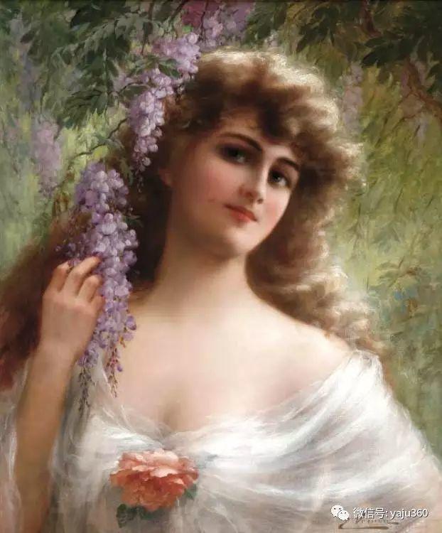法国学院派画家Emile Vernon女性人物油画插图9