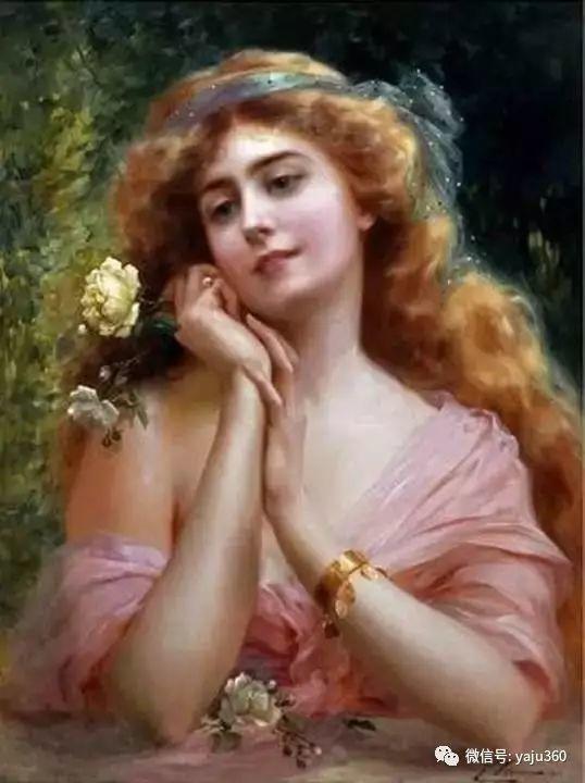法国学院派画家Emile Vernon女性人物油画插图11