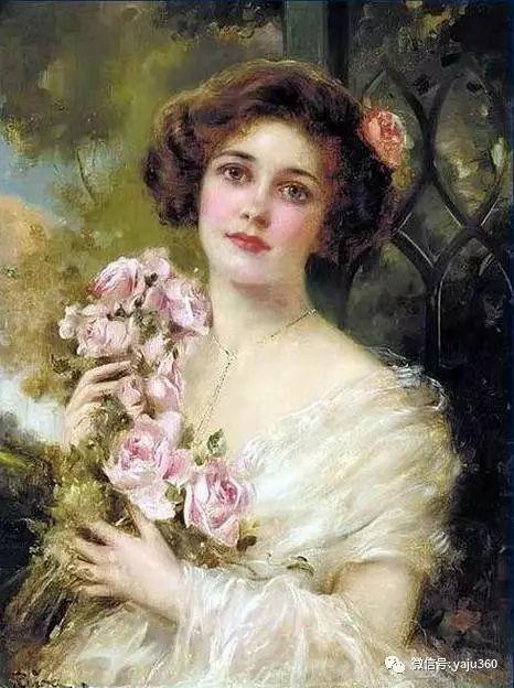 法国学院派画家Emile Vernon女性人物油画插图17