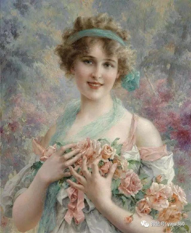 法国学院派画家Emile Vernon女性人物油画插图19