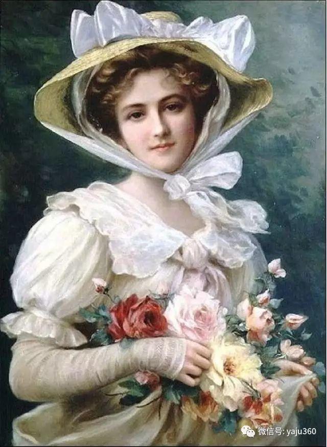 法国学院派画家Emile Vernon女性人物油画插图21