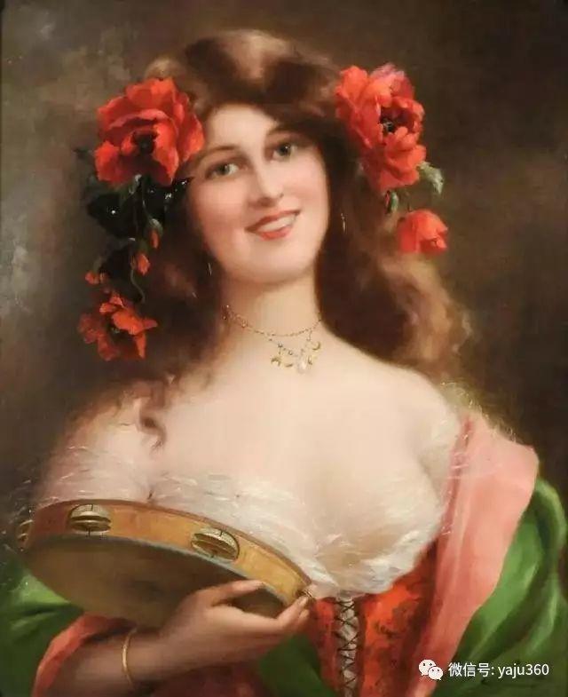 法国学院派画家Emile Vernon女性人物油画插图23