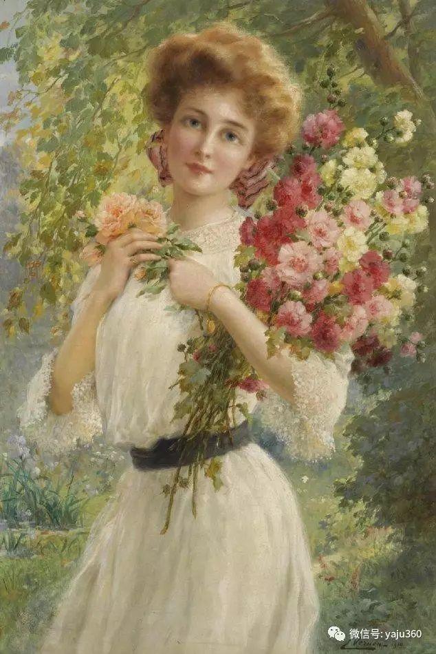 法国学院派画家Emile Vernon女性人物油画插图25