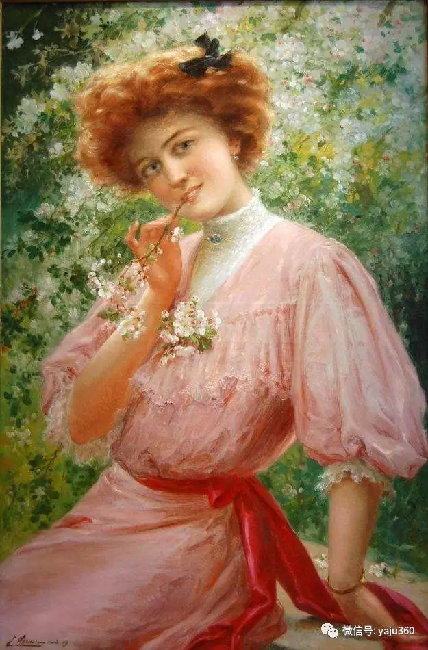 法国学院派画家Emile Vernon女性人物油画插图27