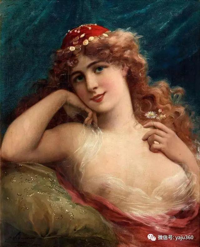 法国学院派画家Emile Vernon女性人物油画插图33