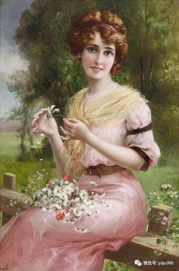 法国学院派画家Emile Vernon女性人物油画插图35