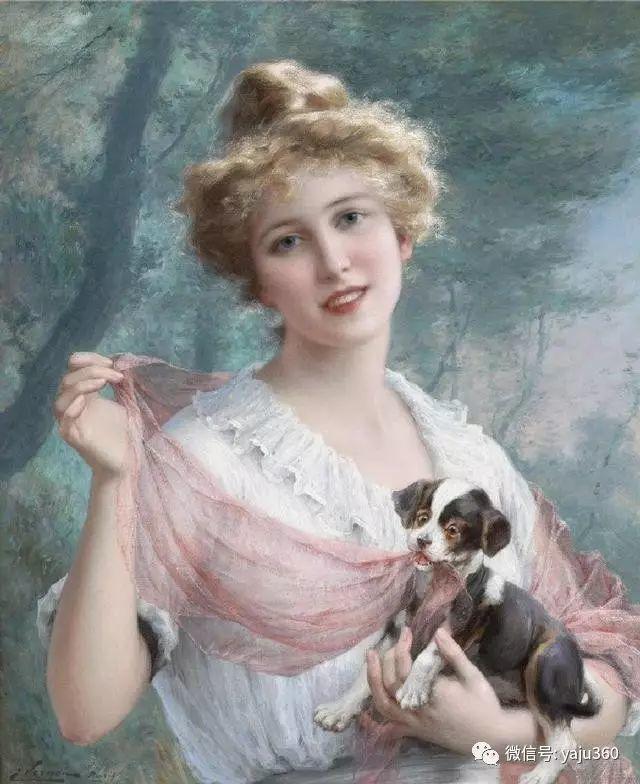 法国学院派画家Emile Vernon女性人物油画插图37