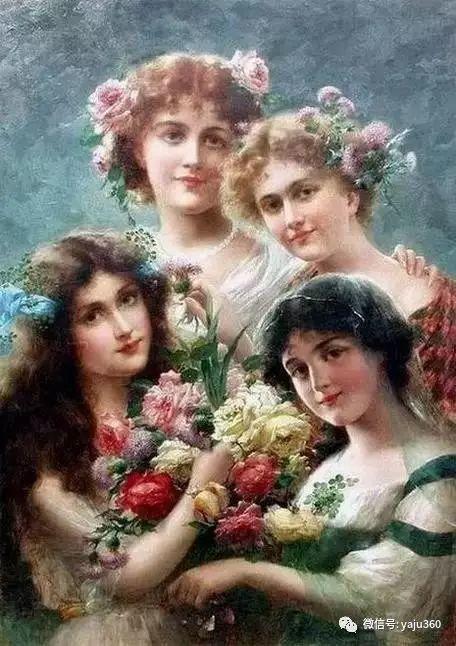 法国学院派画家Emile Vernon女性人物油画插图39