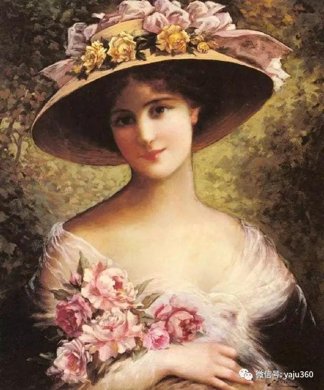 法国学院派画家Emile Vernon女性人物油画插图41