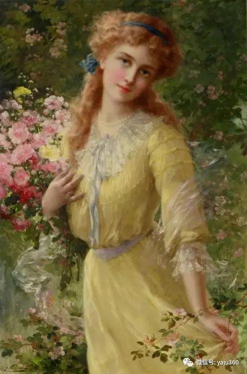 法国学院派画家Emile Vernon女性人物油画插图43