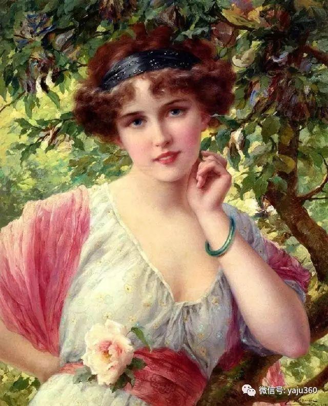法国学院派画家Emile Vernon女性人物油画插图45