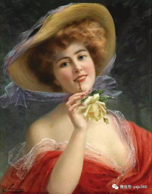 法国学院派画家Emile Vernon女性人物油画插图47