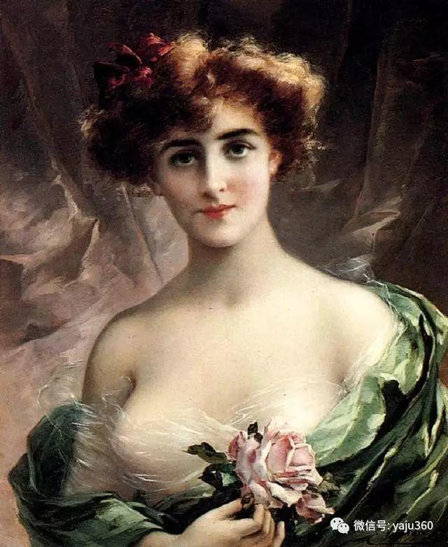 法国学院派画家Emile Vernon女性人物油画插图57