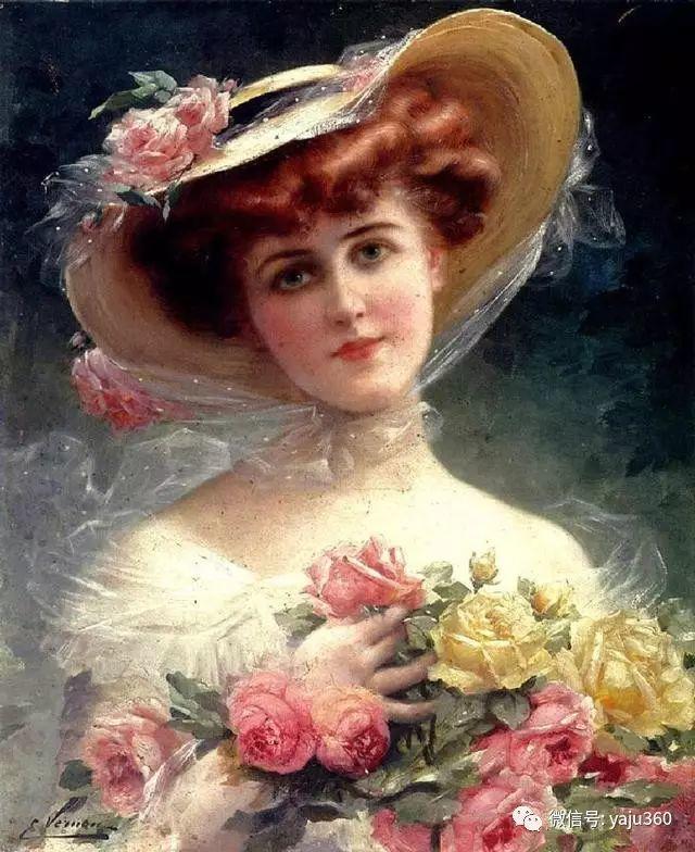 法国学院派画家Emile Vernon女性人物油画插图59