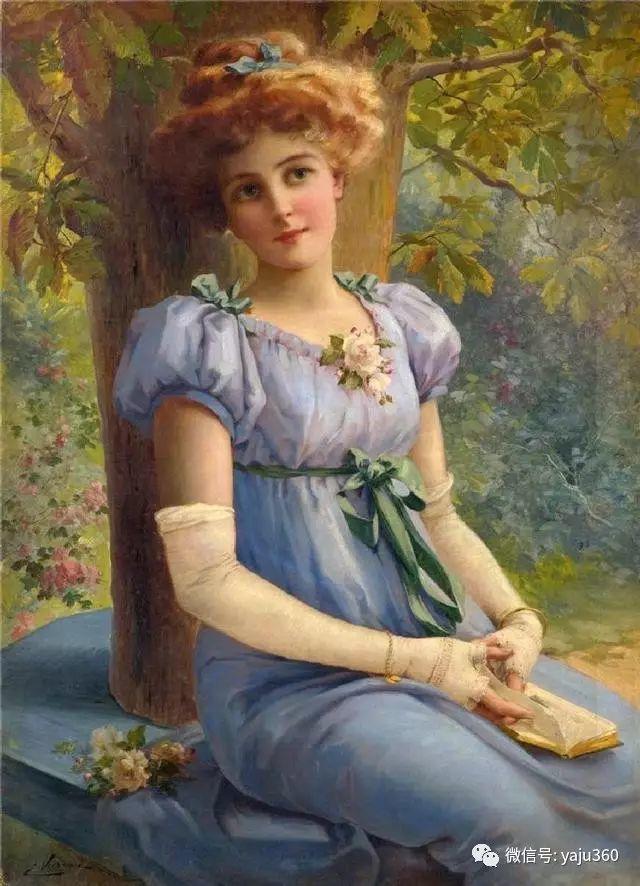 法国学院派画家Emile Vernon女性人物油画插图61
