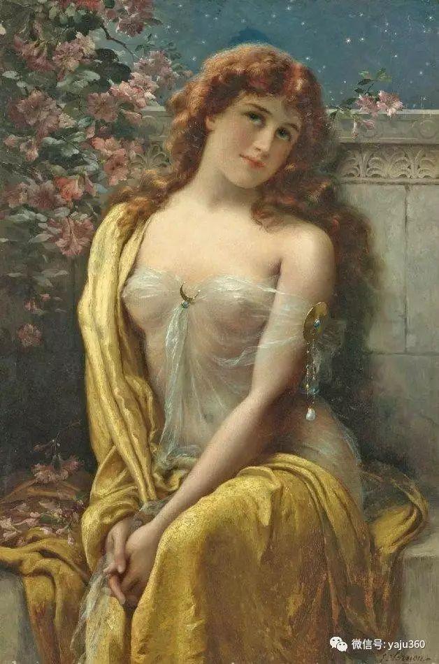 法国学院派画家Emile Vernon女性人物油画插图63