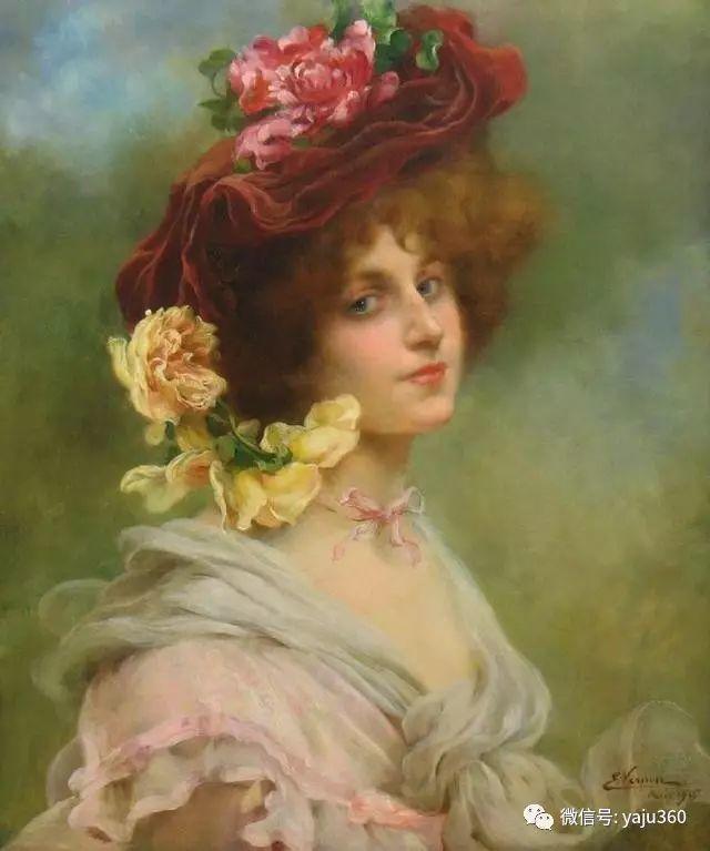 法国学院派画家Emile Vernon女性人物油画插图65