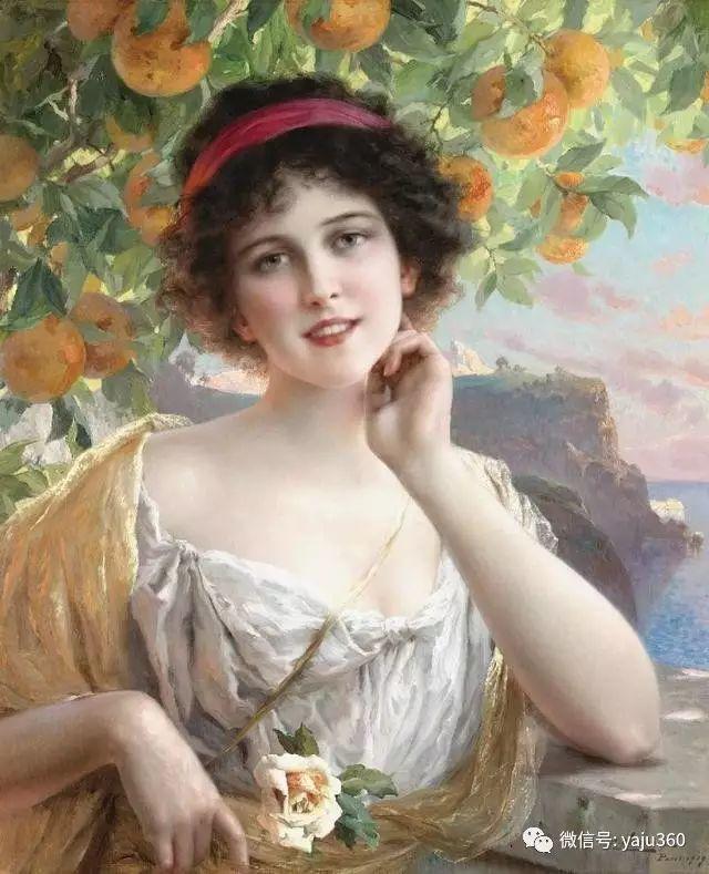 法国学院派画家Emile Vernon女性人物油画插图67