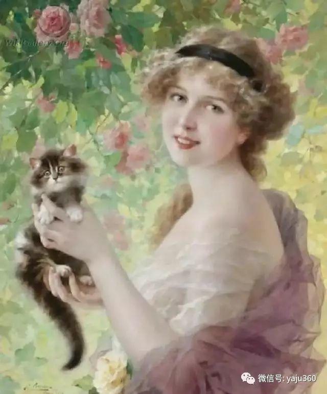法国学院派画家Emile Vernon女性人物油画插图75