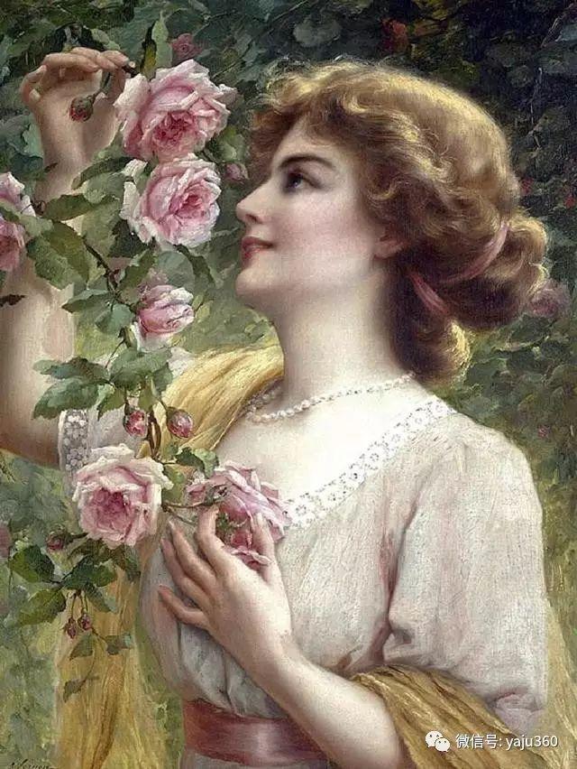 法国学院派画家Emile Vernon女性人物油画插图83