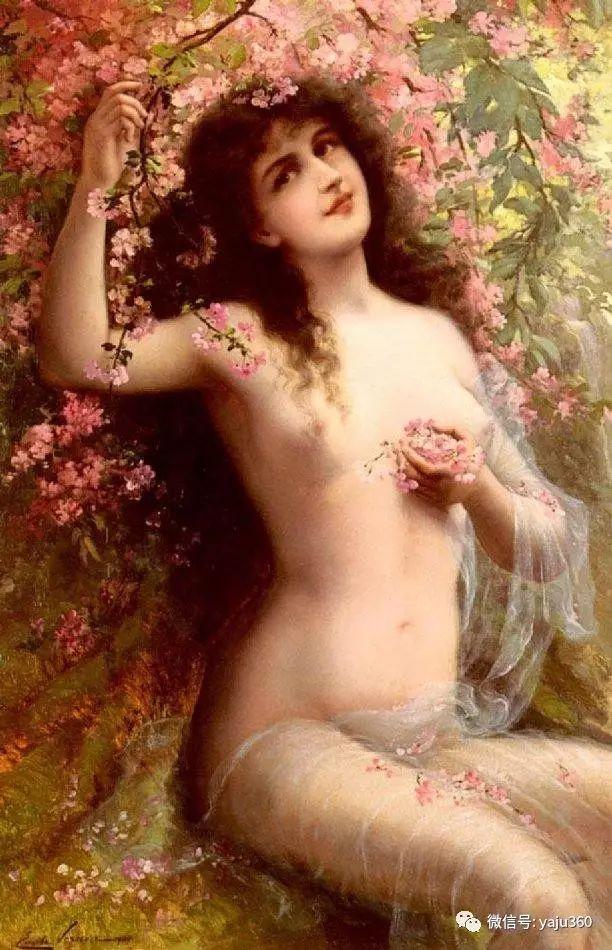 法国学院派画家Emile Vernon女性人物油画插图85