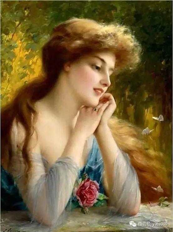 法国学院派画家Emile Vernon女性人物油画插图87