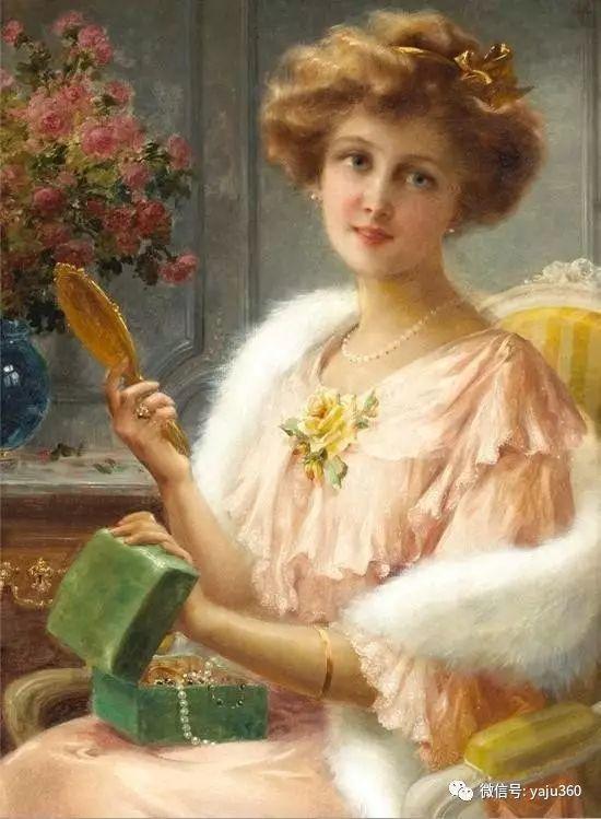 法国学院派画家Emile Vernon女性人物油画插图89