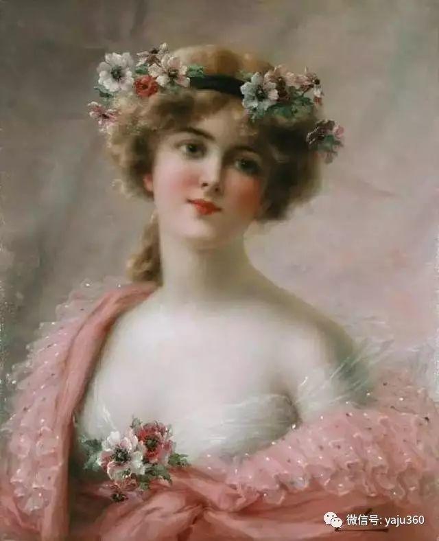 法国学院派画家Emile Vernon女性人物油画插图91
