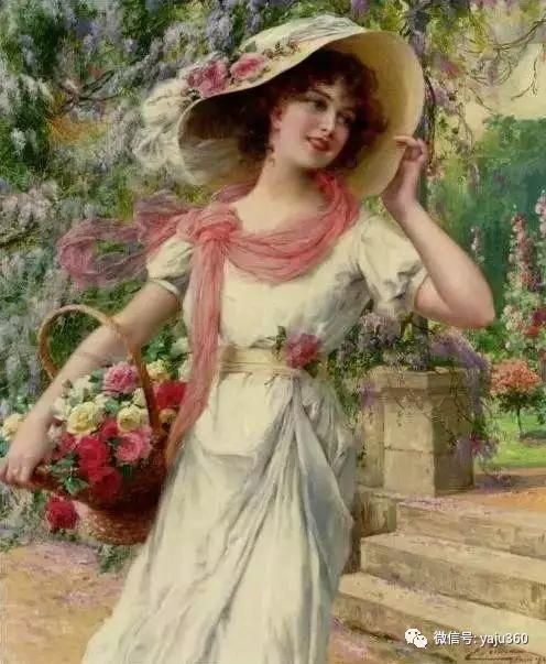 法国学院派画家Emile Vernon女性人物油画插图93