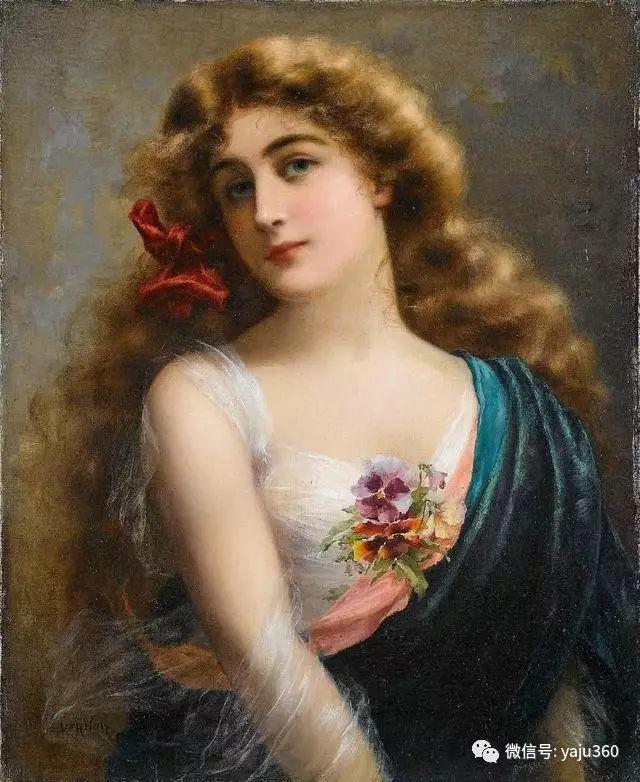 法国学院派画家Emile Vernon女性人物油画插图95