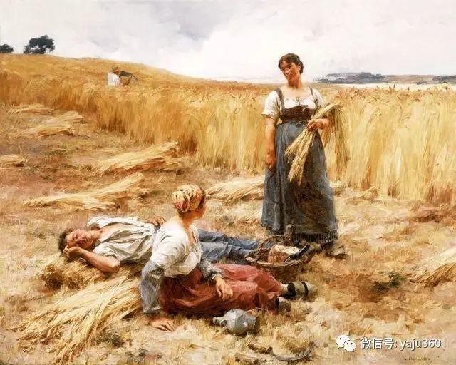 农村生活 法国莱昂油画欣赏插图