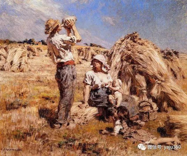 农村生活 法国莱昂油画欣赏插图2