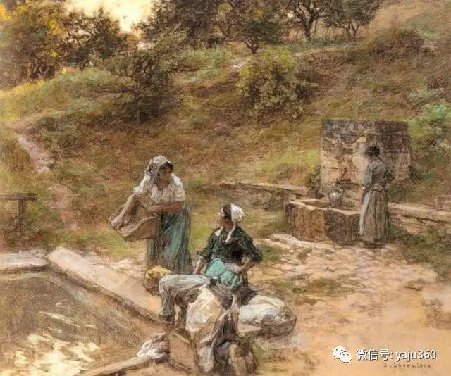 农村生活 法国莱昂油画欣赏插图5