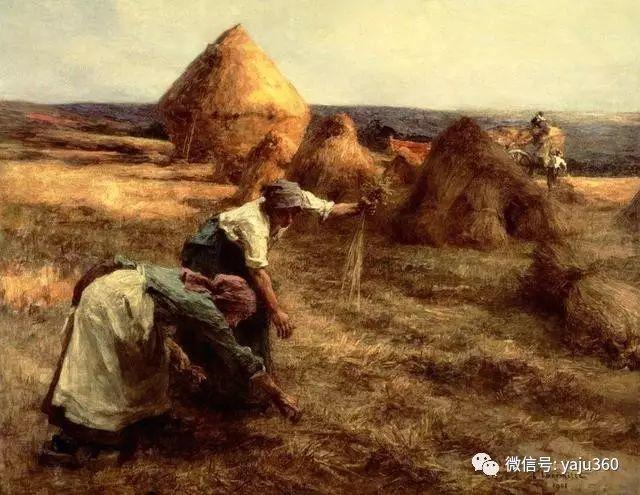 农村生活 法国莱昂油画欣赏插图7