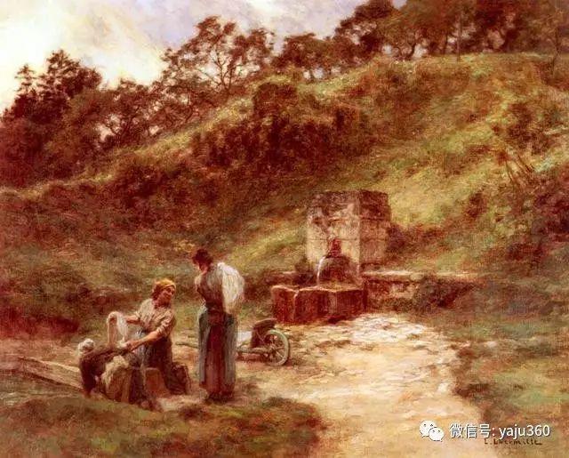 农村生活 法国莱昂油画欣赏插图12