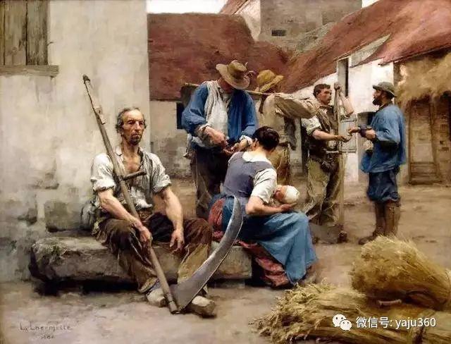 农村生活 法国莱昂油画欣赏插图15