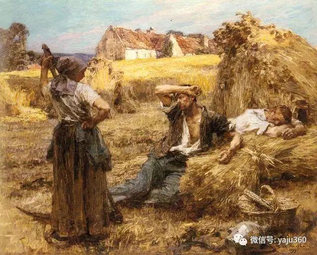 农村生活 法国莱昂油画欣赏插图16