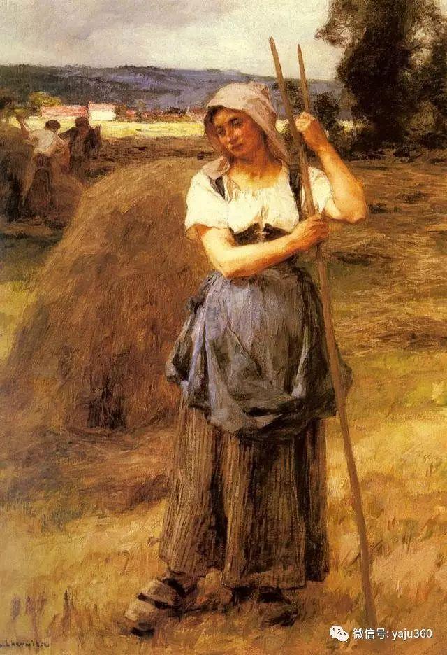 农村生活 法国莱昂油画欣赏插图17