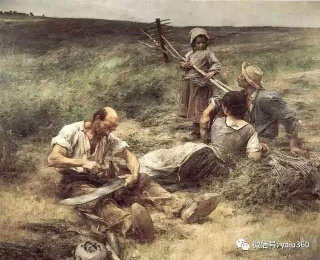 农村生活 法国莱昂油画欣赏插图18