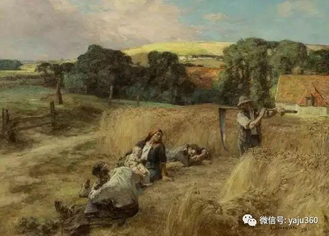 农村生活 法国莱昂油画欣赏插图19