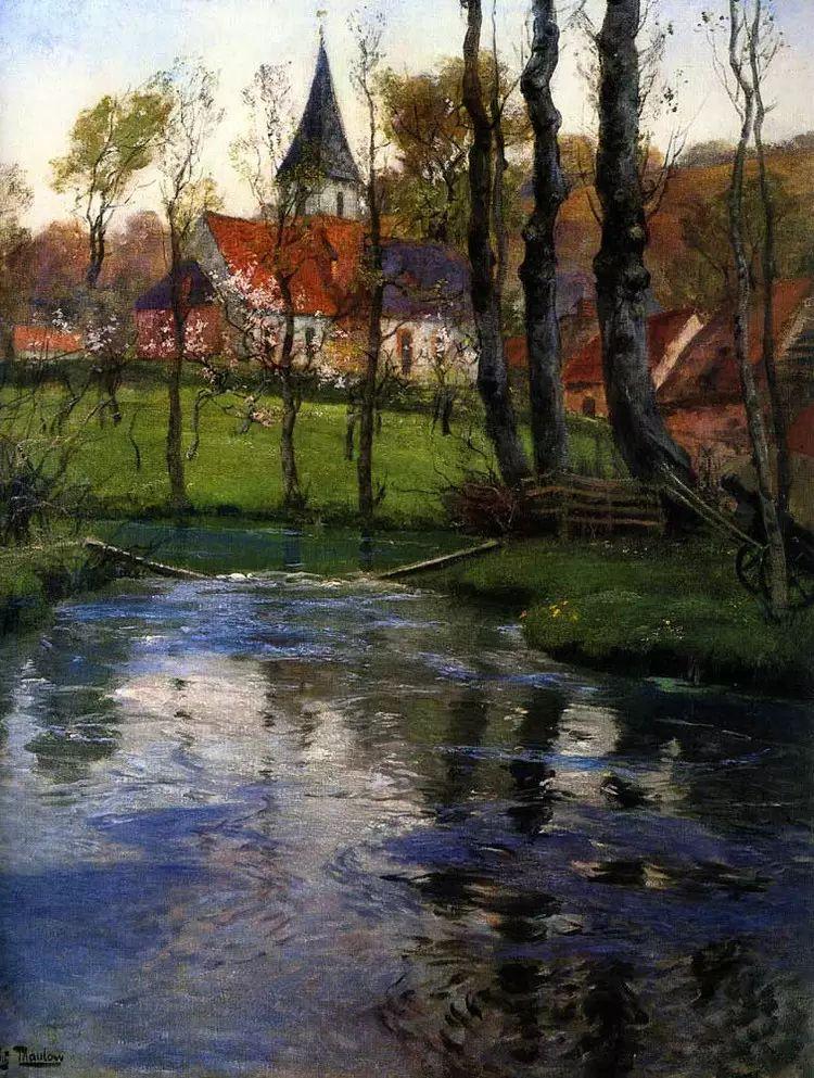 油画世界 挪威约翰·弗雷德里克风景油画插图3