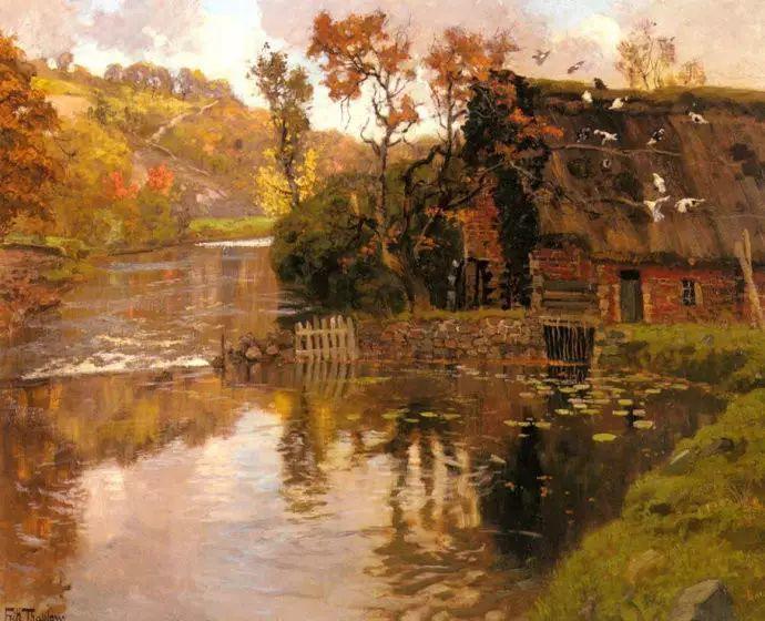 油画世界 挪威约翰·弗雷德里克风景油画插图5